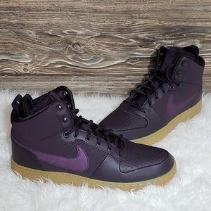 New Nike Ebernon Mid Winter Purple Sneakers
